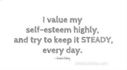 steady self-esteem
